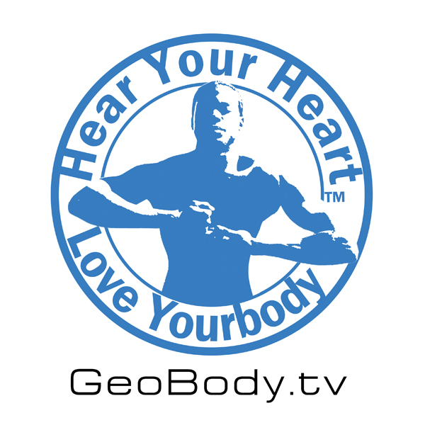 Geobody.tv Hear Your Heart Love YourBody A sticker Campaign by Geobody.tv A fitness technique with a peace on earth approach